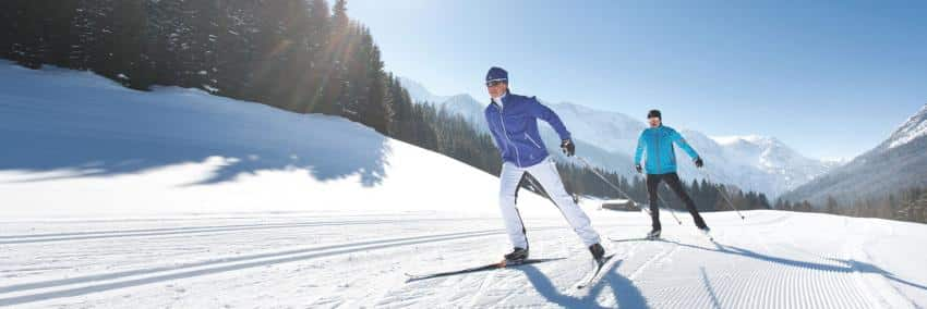 Cross-country skiing in St. Veit