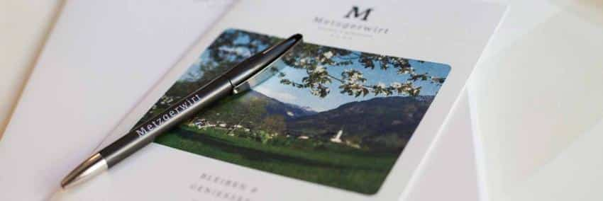Schreibmaterial des Metzgerwirtes